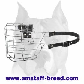 'The Silencer' Wire Cage Amstaff Muzzle With One Strap