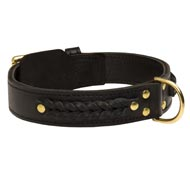 Incredible Design Amstaff Braided Leather Collar