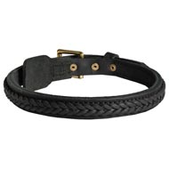 Amstaff Braided Leather Collar 1 Inch