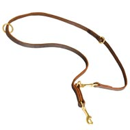 Multipurpose Leather Amstaff Leash for Training, Walking and Patrolling