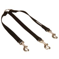 Triple Nylon Amstaff Leash Coupler for Walking 3 Dogs at a Time