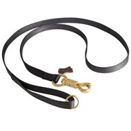 Police Tracking Nylon Amstaff Leash Features Massive Solid Brass Snap with Smart Lock