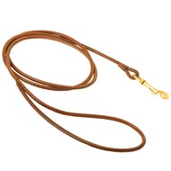 Round Leather Amstaff Leash for Dog Shows