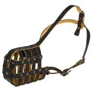 Royal Nappa Leather Basket Amstaff Muzzle