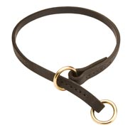 Amstaff Leather Choke Collar Effective Training