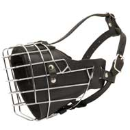 Leather Padded Wire Cage Amstaff Muzzle for Agitation Training