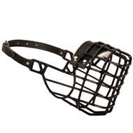 Frost-Resistant Wire Cage Amstaff Muzzle with One Adjustable Strap