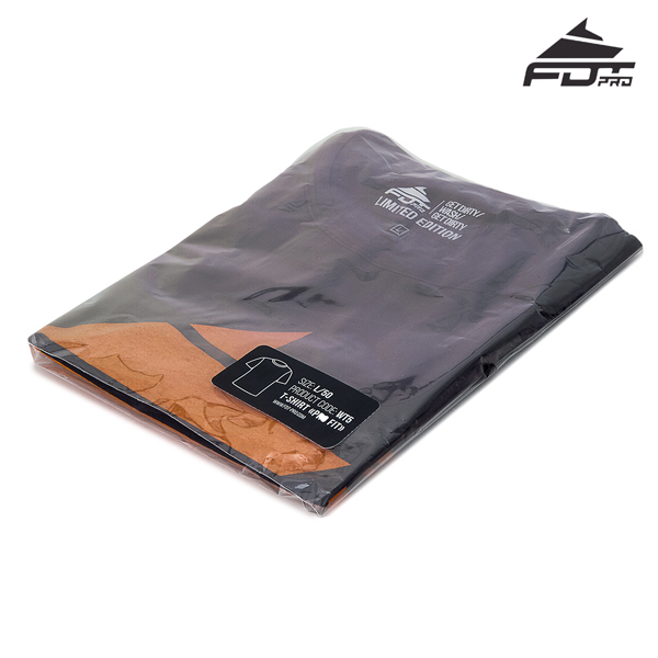 Prepacked FDT Professional Design T-shirt of Dark Grey Color