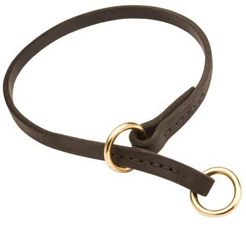 Amstaff Obedience Training Choke  Leather Dog Collar