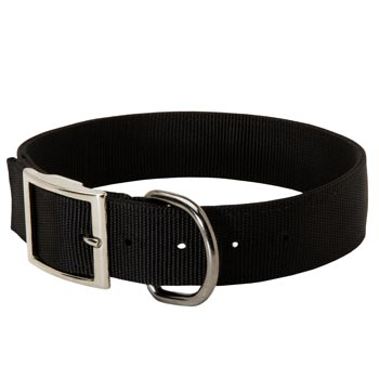 Nylon Amstaff Collar with Adjustable Steel Nickel Plated Buckle