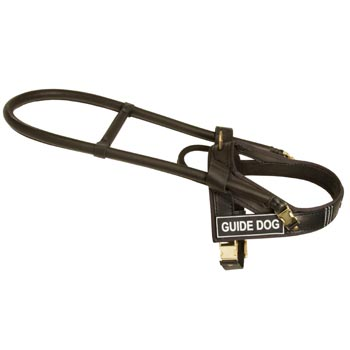Amstaff Guid Harness Leather for Dog Assistance