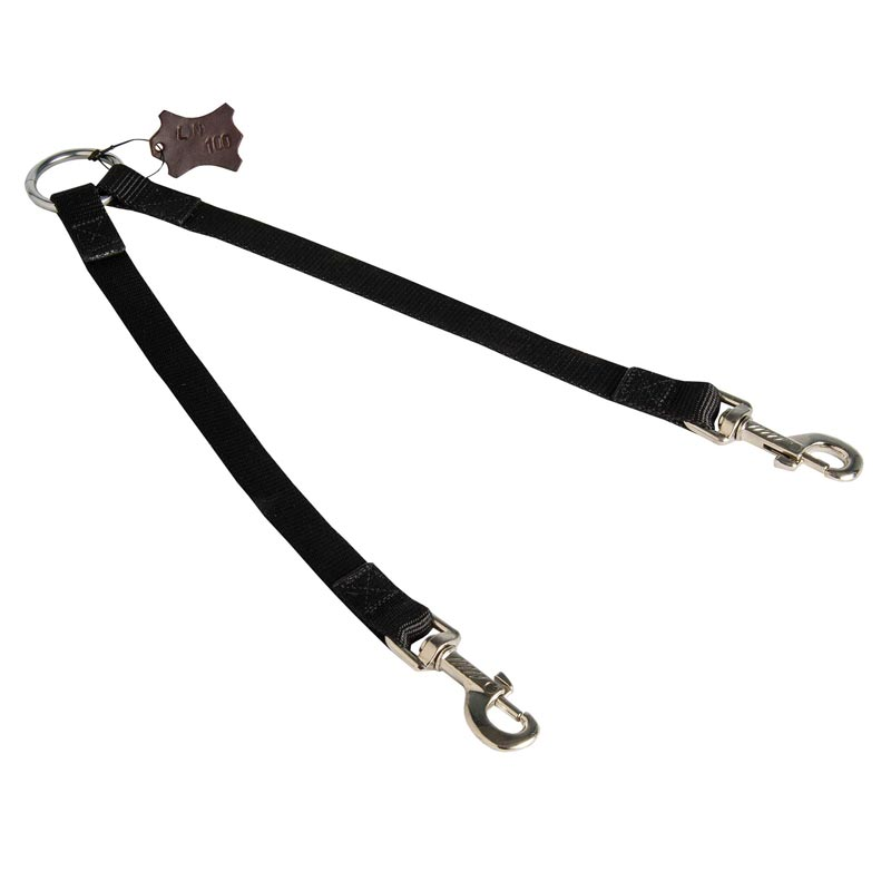 Nylon Amstaff Leash Coupler Stitched