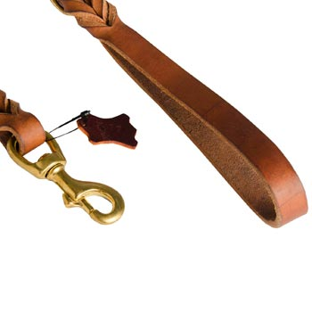 Amstaff Leather Leash for Canine Service